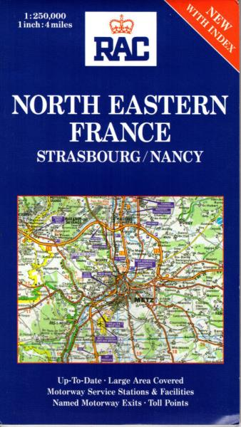 North Eastern France Map NEW Strasbourg Nancy Alsace Lorraine Vosges ...