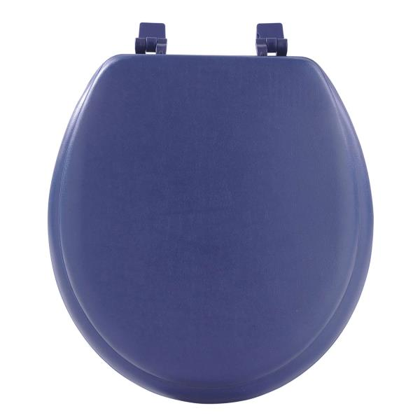 cushioned toilet seat covers. Navy Blue Soft Padded Toilet Seat Premium Cushioned Standard Round Cover  Comfort