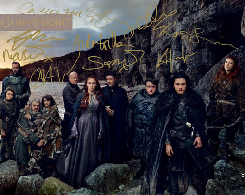 Game of Thrones Season 4 Full Cast Signed Photo Autograph ...Game Of Thrones Cast Season 4