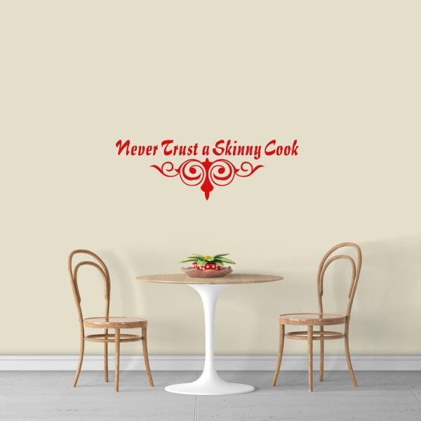 Never Trust A Skinny Cook Wall Stickers Vinyl Art Decals