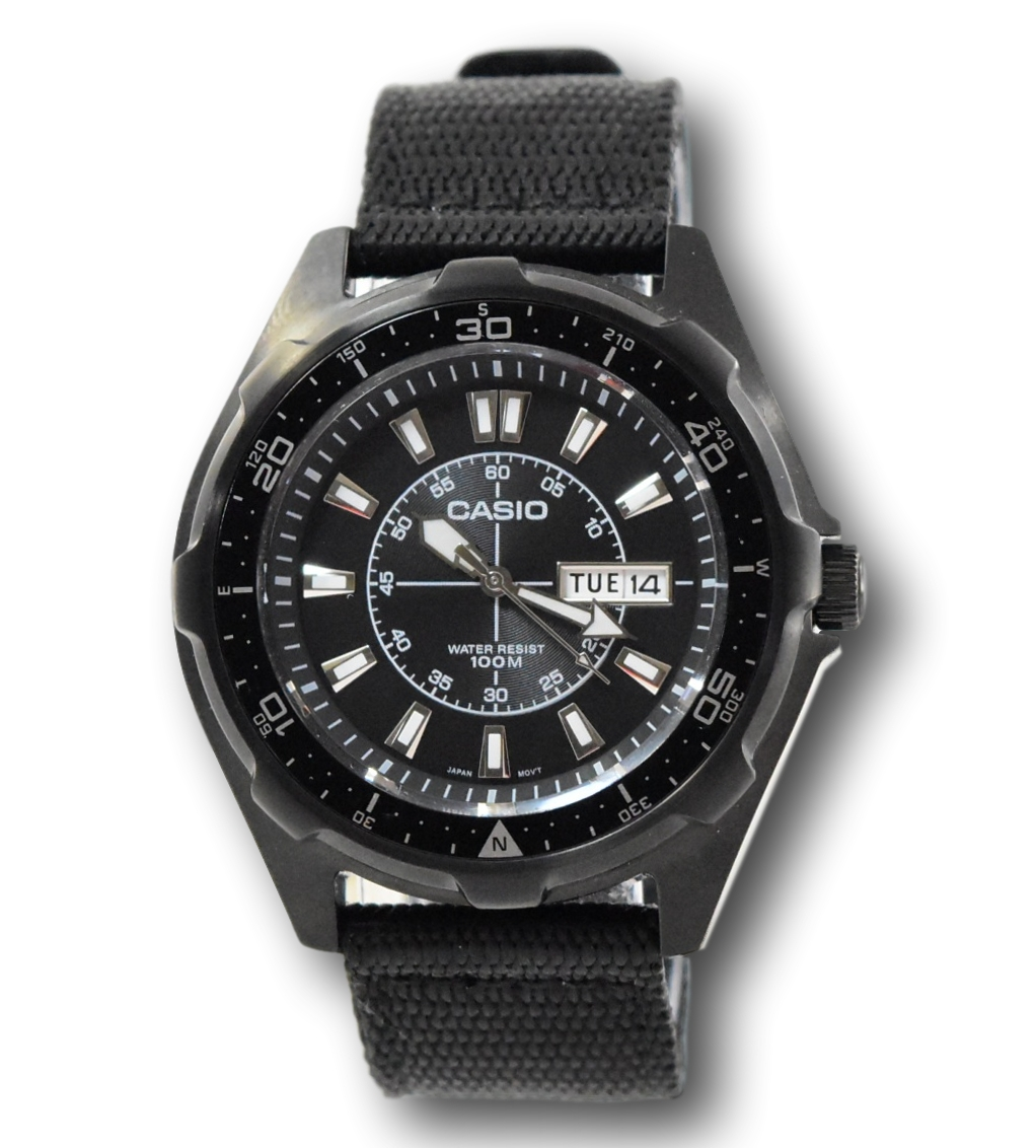 c689d3ff8 Casio Men's AMW110-1AV Classic Stainless Steel Black Dial Nylon ...