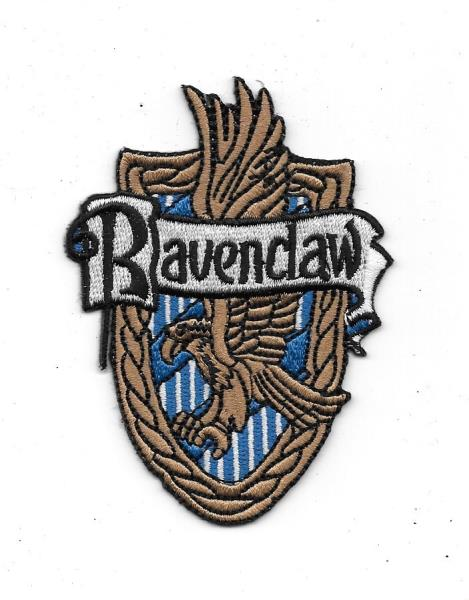 Harry Potter House Of Ravenclaw Crest British Logo Embroidered Patch