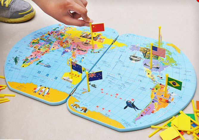 Montessori geography materials flag stand world map and 36 flags montessori geography materials flag stand world map and 36 flags gumiabroncs Choice Image