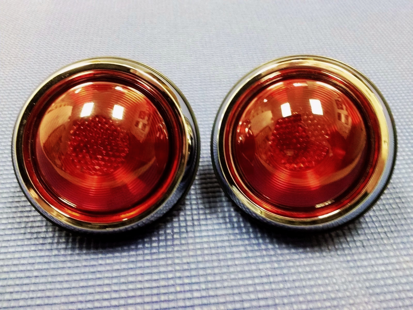 HOT ROD VINTAGE RAT ROD CUSTOM PONTIAC REAR TAIL CHROME LIGHT SET W ...