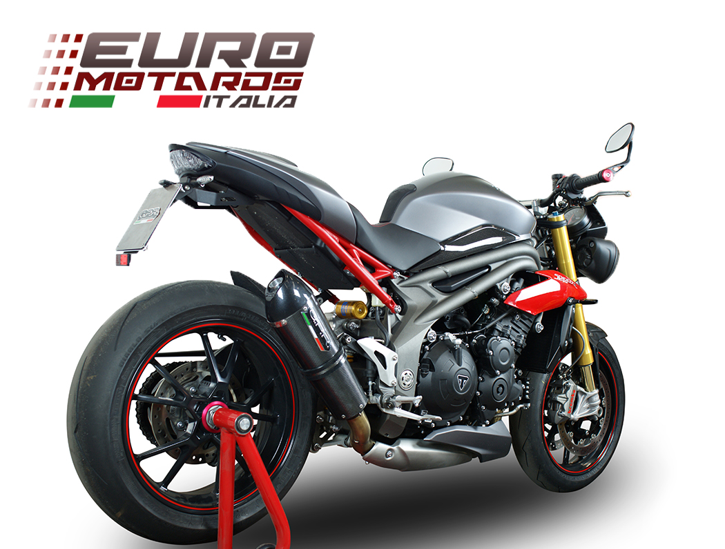 triumph speed triple 1050 r 2016 single low gpr exhaust slipon silencer gpe cf ebay. Black Bedroom Furniture Sets. Home Design Ideas