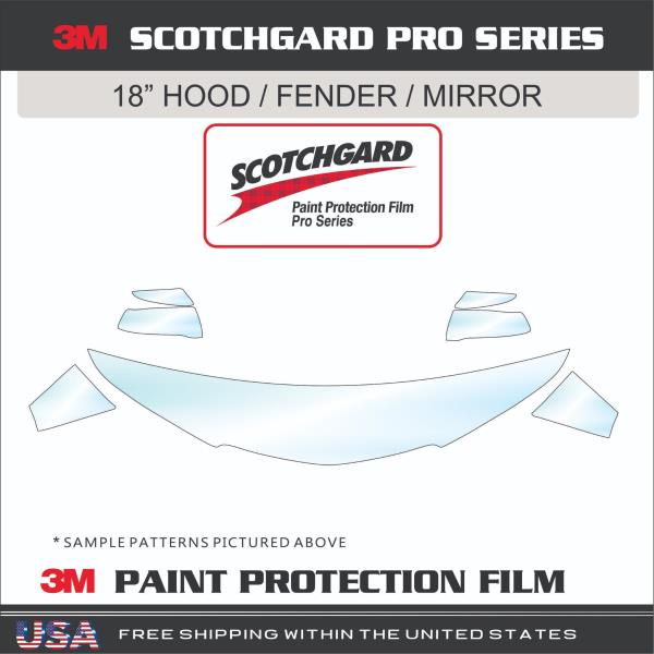 3M Scotchgard Paint Protection Film Pro Series Fits 2016 2017 Honda Accord Coupe