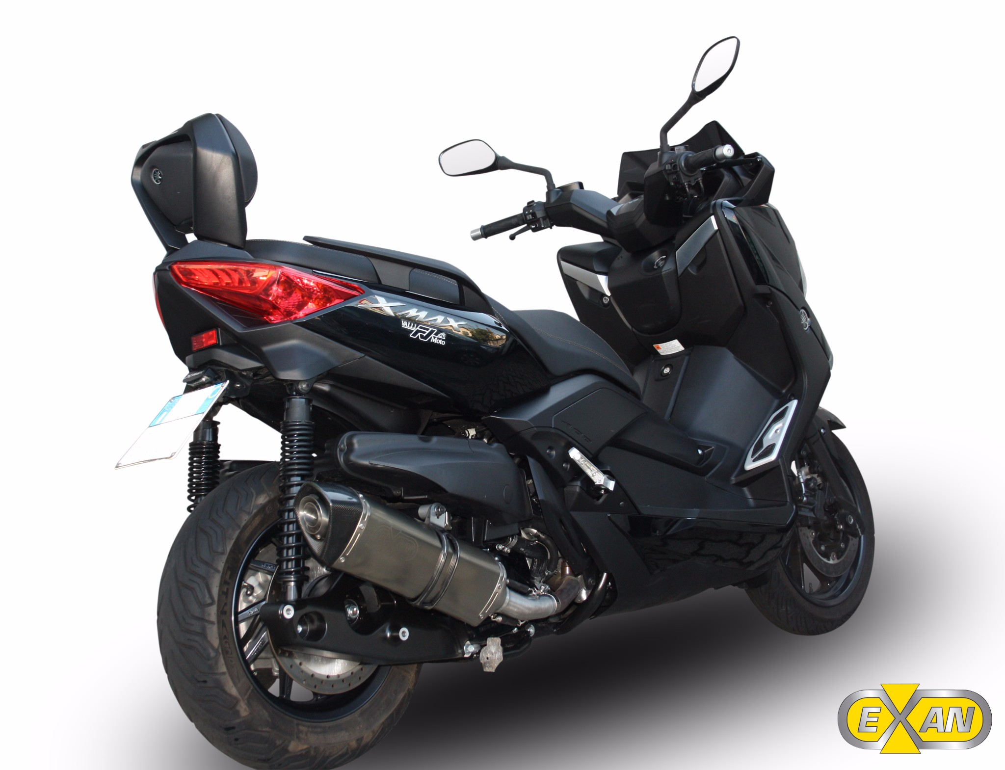yamaha xmax x max 400 exan exhaust silencer oval x black. Black Bedroom Furniture Sets. Home Design Ideas