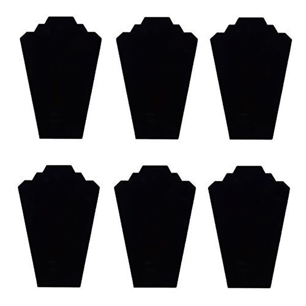 NECKLACE JEWELRY DISPLAY STAND Black Velvet Pendant Holder Mannequin 6 PIECES
