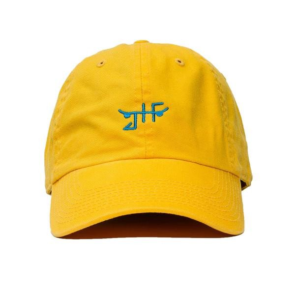 JHF Cap Classic Skate Yellow Unstructured Strapback Skateboard Dad Hat OSFM FREE POST New