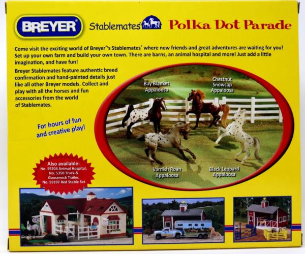 Details about Breyer Stablemates Polka Dot Parade #5979 Four Appaloosa  Horses Retired - NIP