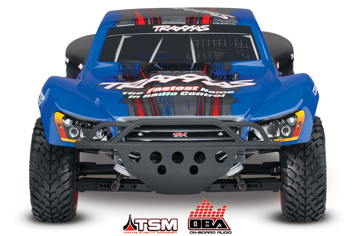Traxxas 68086-24 Blue 1/10 RTR Slash VXL 4X4 Brushless SC Truck w ...