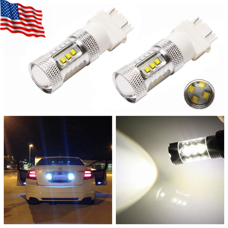 CREE 3157 4114 3057 4157 LED Backup Reverse Lights DRL ULTRA BRIGHT WHITE AUXTIO