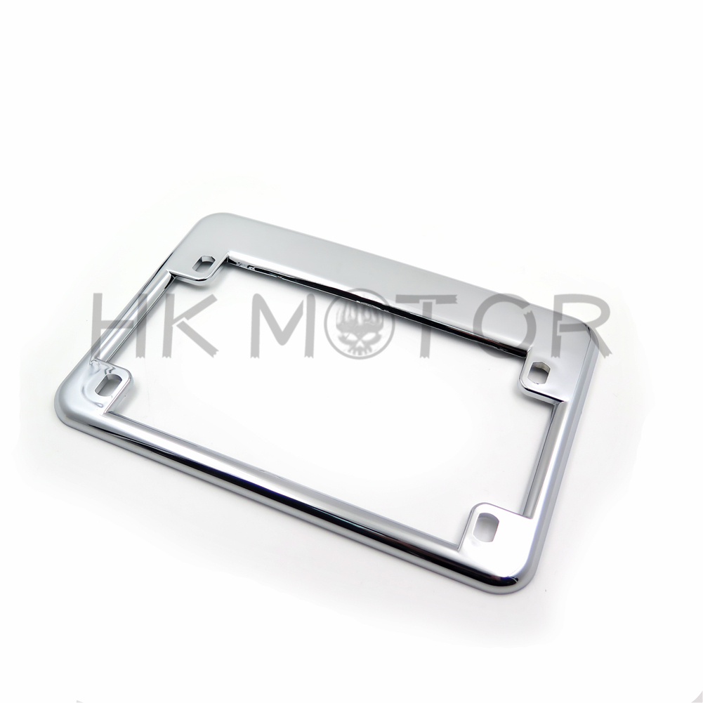 Chrome Motorcycle License Plate Frame Surround Cover Ebay