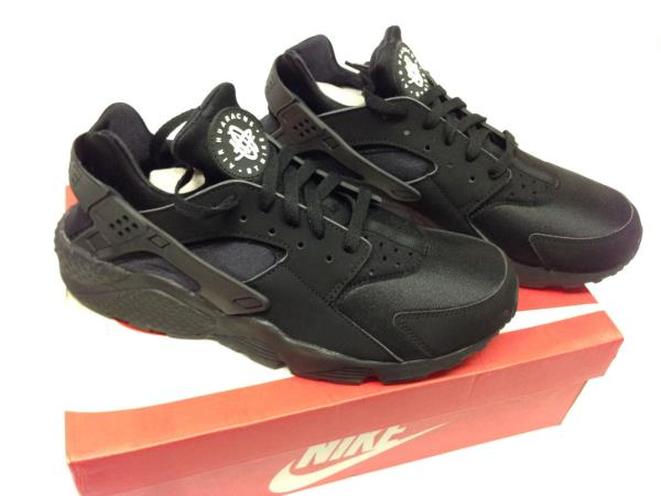 NIKE AIR HUARACHE RUN TRIPLE BLACK 318429-003 Mens 8-13