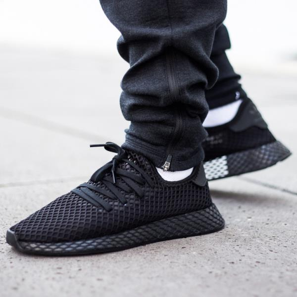 quality design c0aba 9f68b Adidas Deerupt Runner Sneakers Core Black Size 8 9 10 11 12 Mens NMD Boost  New