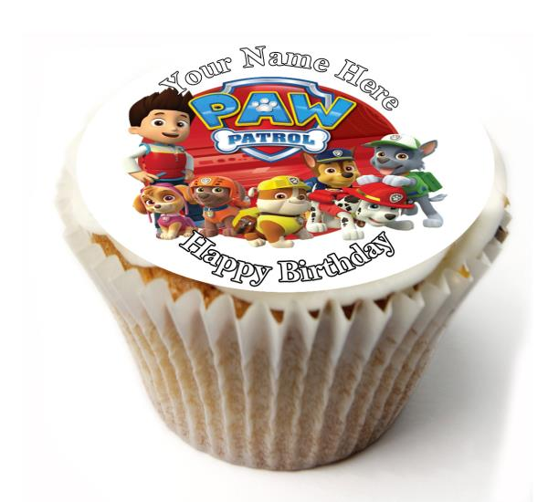 24 PERSONALISED 2nd BIRTHDAY  EDIBLE RICE PAPER CUP CAKE TOPPERS GIRL