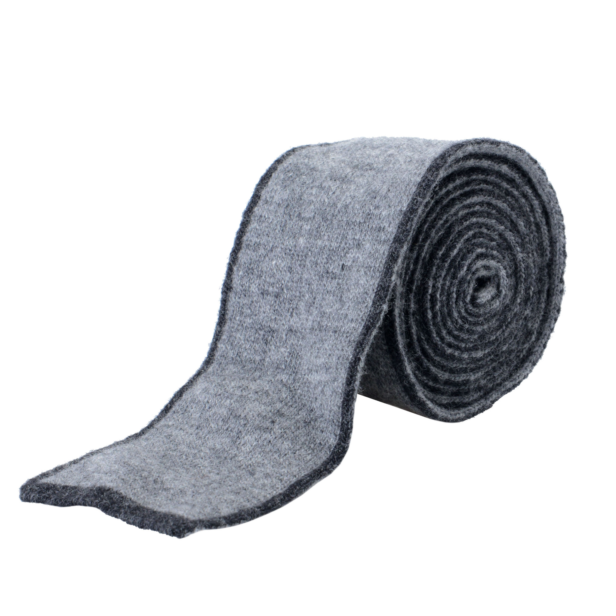 Hugo Boss Men/'s Gray Knitted 100/% Silk Square End Tie