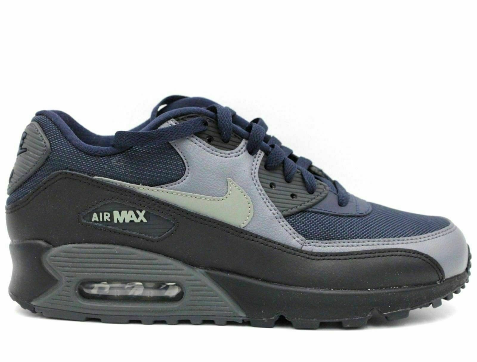 quality design 1caae 6ac94 Details about NIKE AIR MAX 90 ESSENTIAL Men Athletic Fashion Sneakers Size  8.5 Navy Blue Black