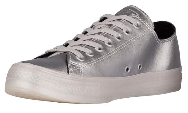 a8013d700083 Details about Converse Unisex All Star Ox Leather Pure Silver White Metallic  Ice 153108C New