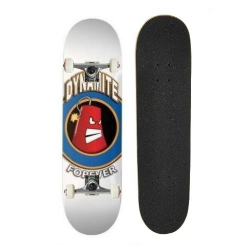 Dynamite Complete Skateboard Iconic White FREE POST