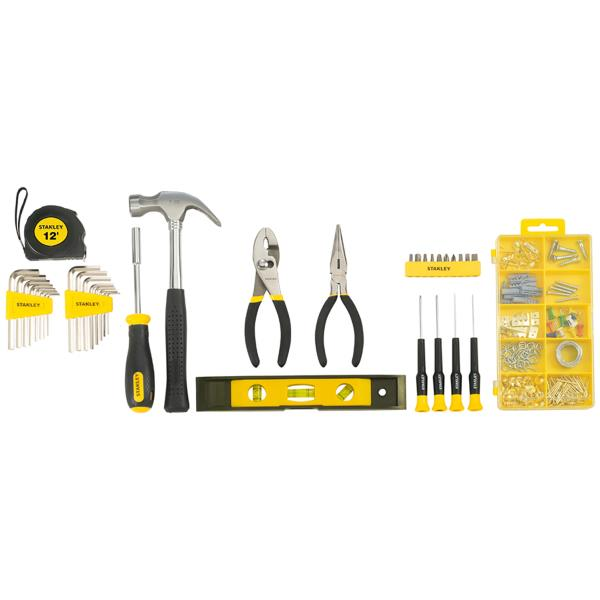 STANLEY HOUSEHOLD TOOL SET Home Repair Mechanic Soft Case Mix Tools 38 PIECE