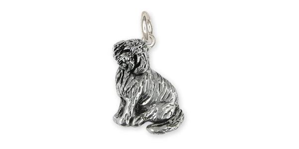 Goldendoodle Charm Jewelry Sterling Silver Handmade Dog Charm GDL1H-C