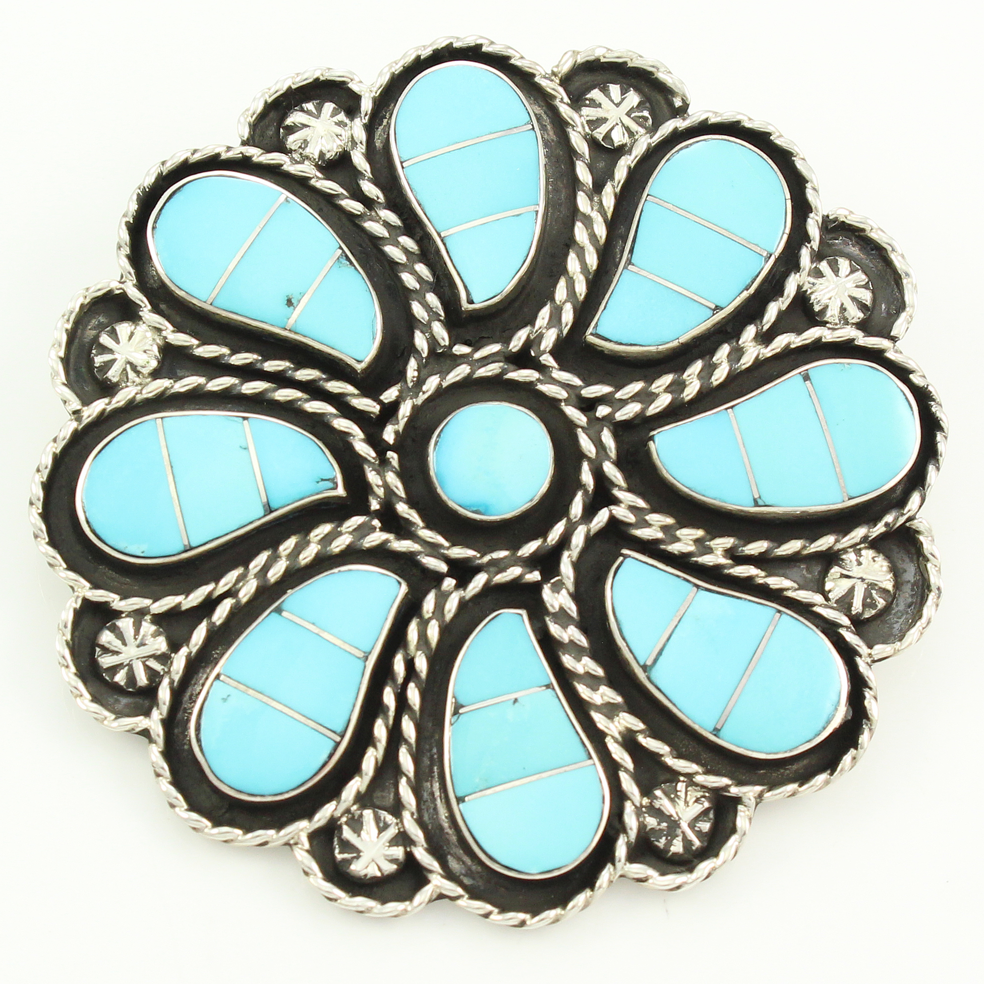pendant zuni sterling jewelry turquoise choker silver indian native necklace american pin