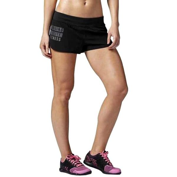349ffb65 Details about [AA1679] New Women's REEBOK Crossfit Ass To Ankle Shorts -  MSRP $55 - Black