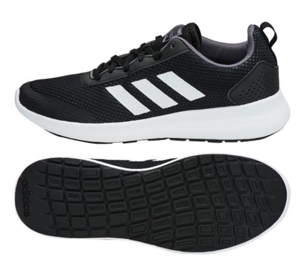 bd42c1371a2 Adidas Men Element Race Shoes Running Black White Training Sneakers ...
