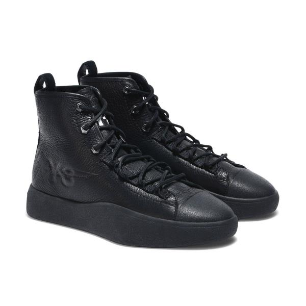 66eed1d8856b1 Adidas Y-3 Bashyo II High Top Sneakers Black Size 7 8 9 10 11 12 Mens NMD  Boost. Leather and suede upper  Rubber toe cap