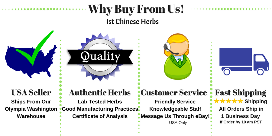 1st Chinese Herbs - US Seller, Fast Shipping, Quality Products, Excellent Customer Service