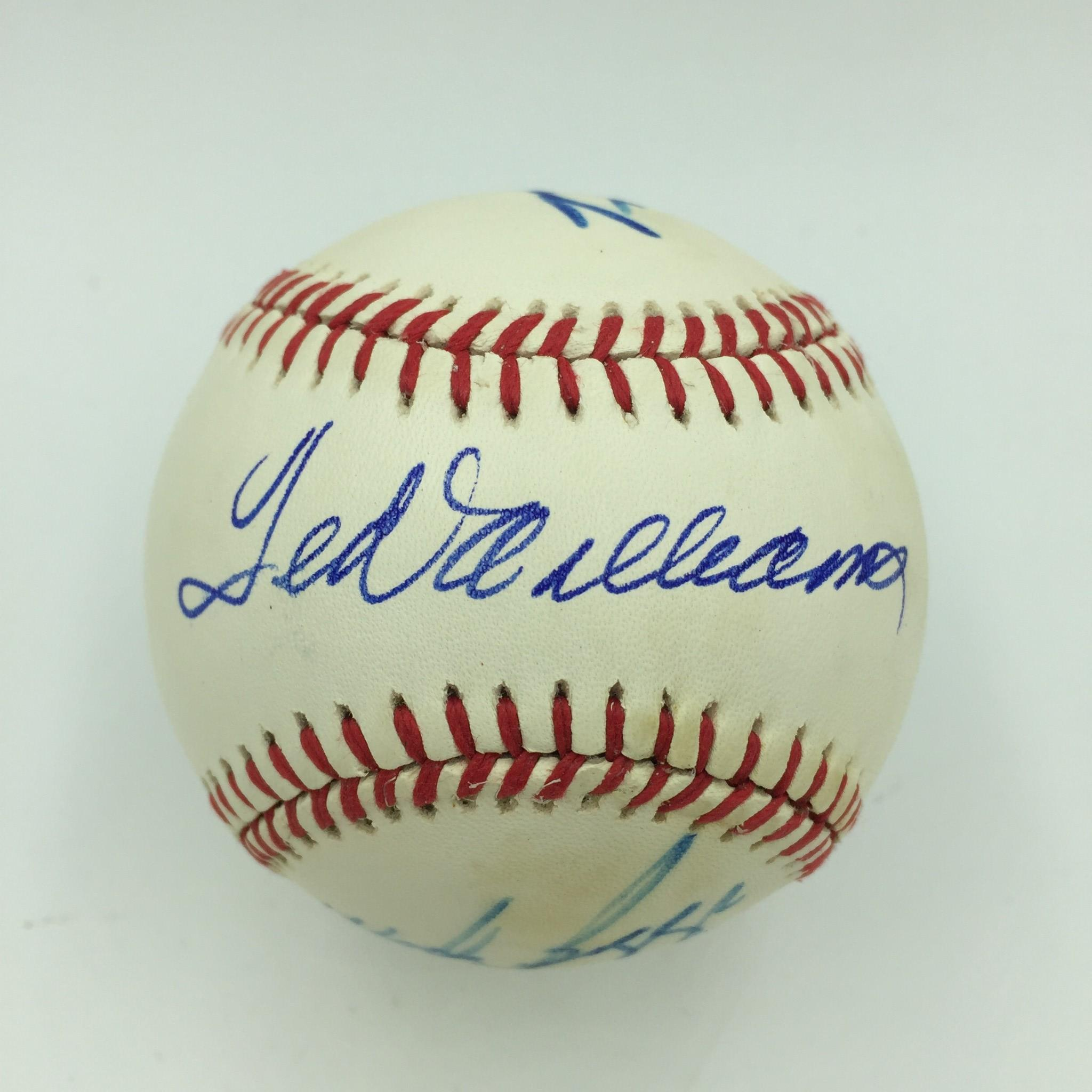 Details About Ted Williams Carl Yastrzemski Wade Boggs Jim Rice Red Sox Signed Baseball Jsa