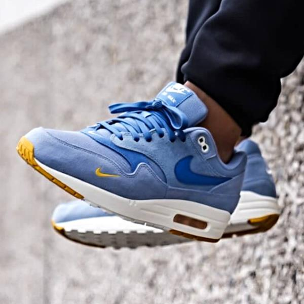 d98b94d1b805 Nike Air Max 1 Premium Sneakers Work Blue Size 8 9 10 11 12 Mens ...