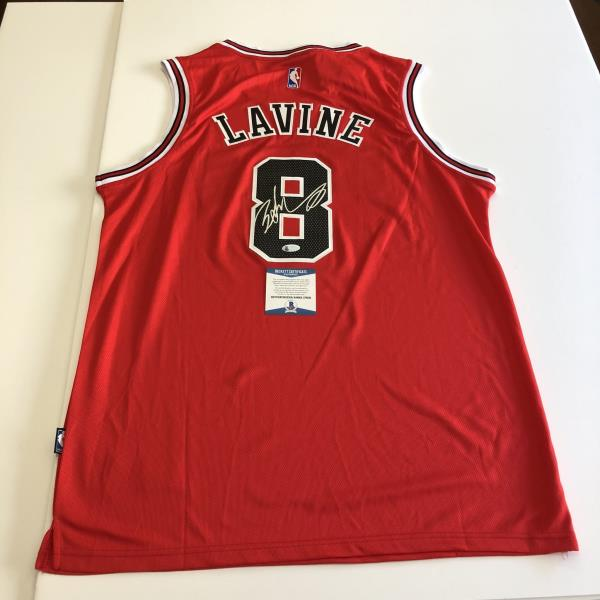 buy online a7e2b 7fe76 Details about Zach Lavine signed jersey BAS Beckett Chicago Bulls  Autographed