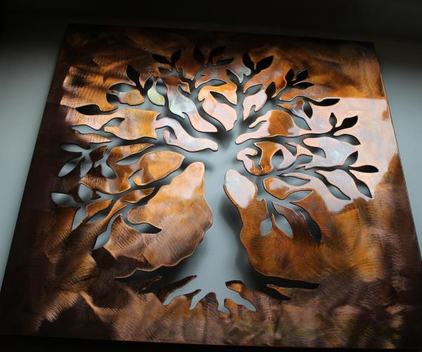 Details about Boxed Olive Tree 3d --Tree of Live Metal Wall Art Decor