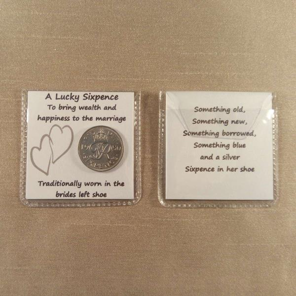 Wedding Garter And Lucky Sixpence For Bride?s Left Shoe /& Pillow Pack Gift Box