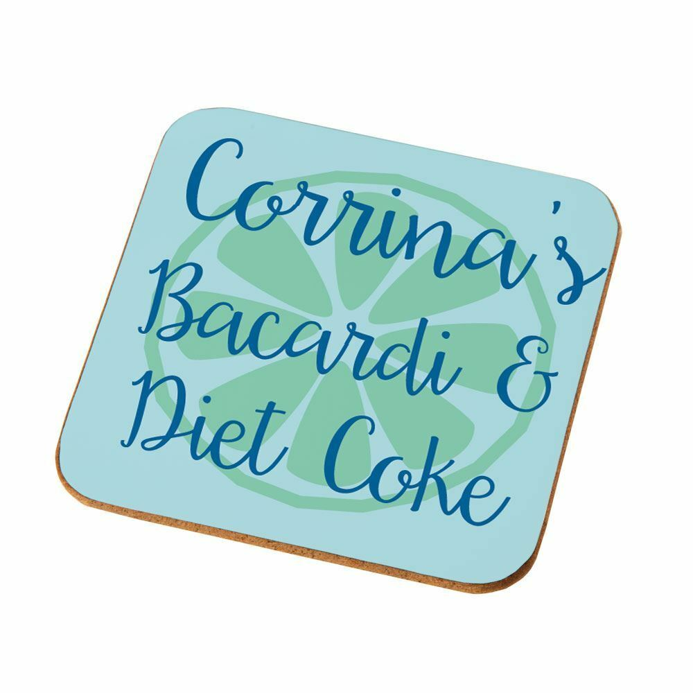 Bacardi Diet Coke Personalised Coaster Gift Ideas For Christmas Office Party Ebay