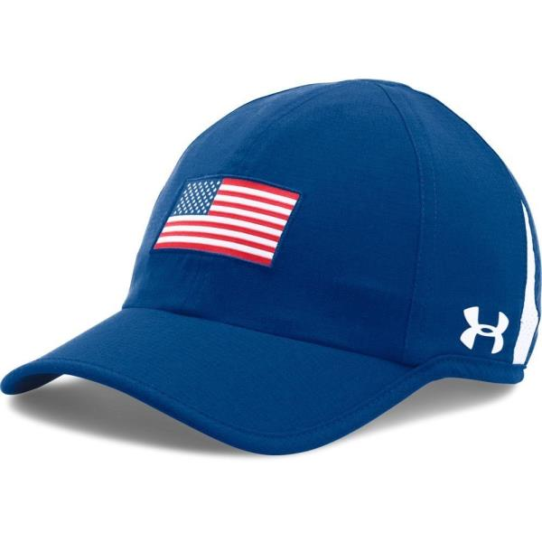 d8a78840f2 Details about New Women's UNDER ARMOUR - 1289409-456 Blue USA FLAG AMERICA  Adjustable Hat