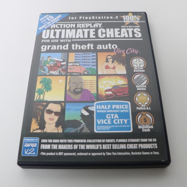 Details about ACTION REPLAY ULTIMATE CHEATS FOR SONY PS2 GRAND THEFT AUTO  VICE CITY GAME