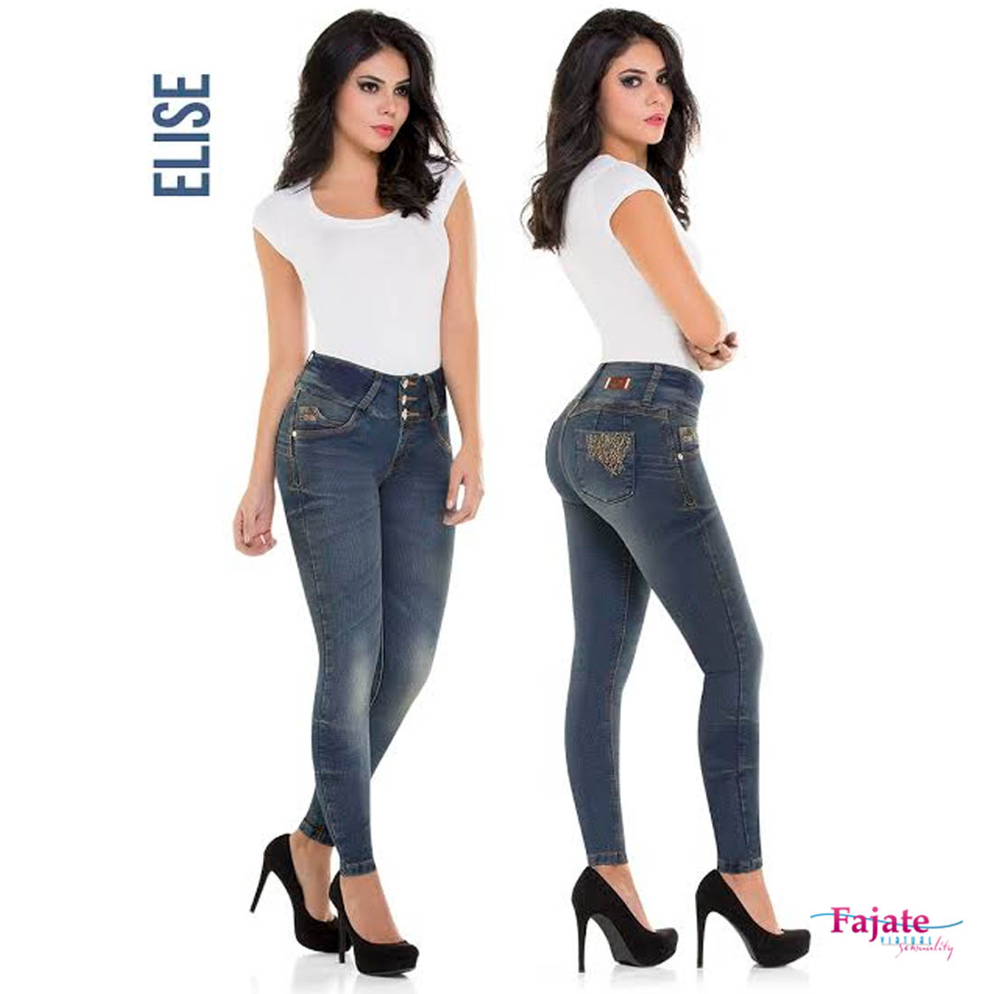 ee75f74fb3f Women Colombian Butt Lifting Jeans Skinny Push Up Jeggings High Rise Waist  Pants