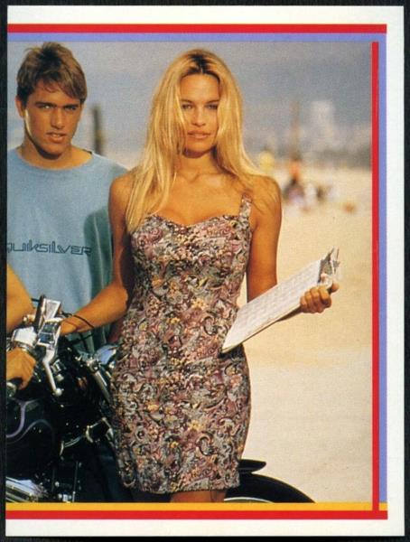 C1255 Pamela Anderson Part 2 of 2 #134 Baywatch Merlin 1993 Sticker