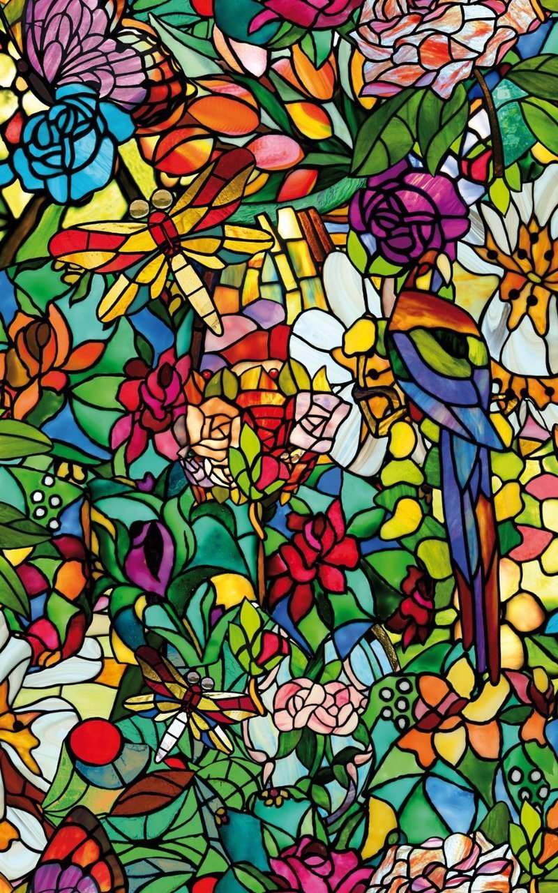 Stained Glass Window Cling Film.Details About Static Cling Frosted Stained Flower Glass Window Film Sticker Privacy Decor Usa