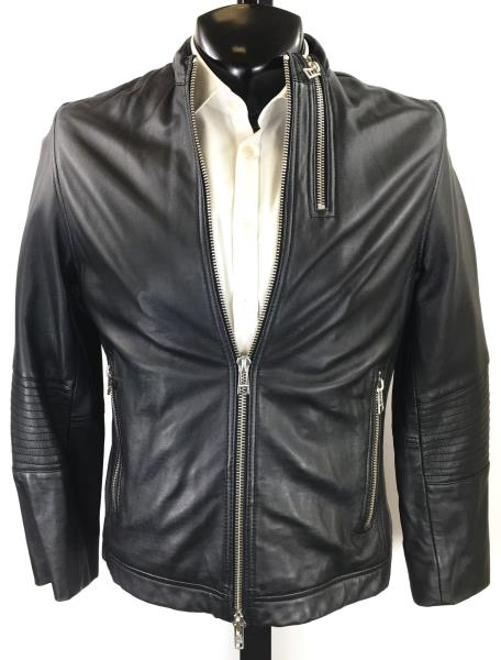 Details about Zadig & Voltaire Black Sheep Leather Jacket | S