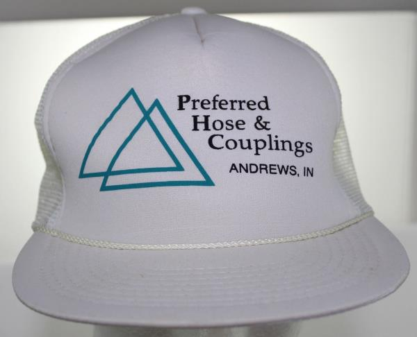e558f2f28 Details about Vintage 80s Preferred Hose & Couplings Andrews Indiana  Trucker Hat Speedway Cap