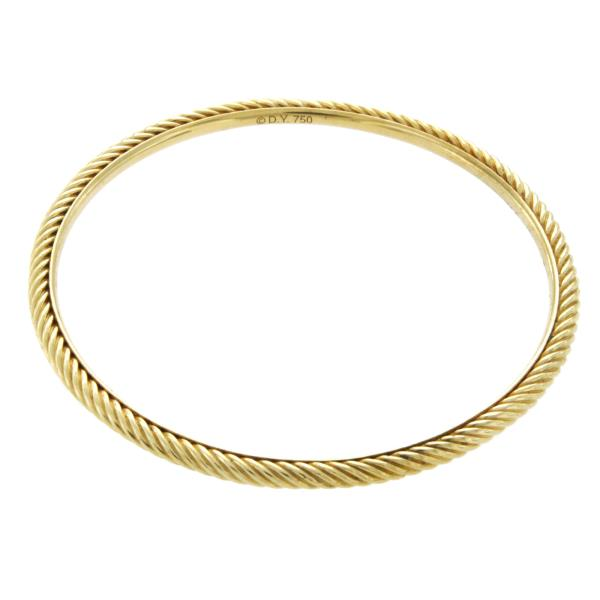 Luxo Jewelry News Letter - High Quality Premium Jewelry - DAVID YURMAN 18K Yellow Gold Classic Cable 3 mm Bracelet Size 6.5