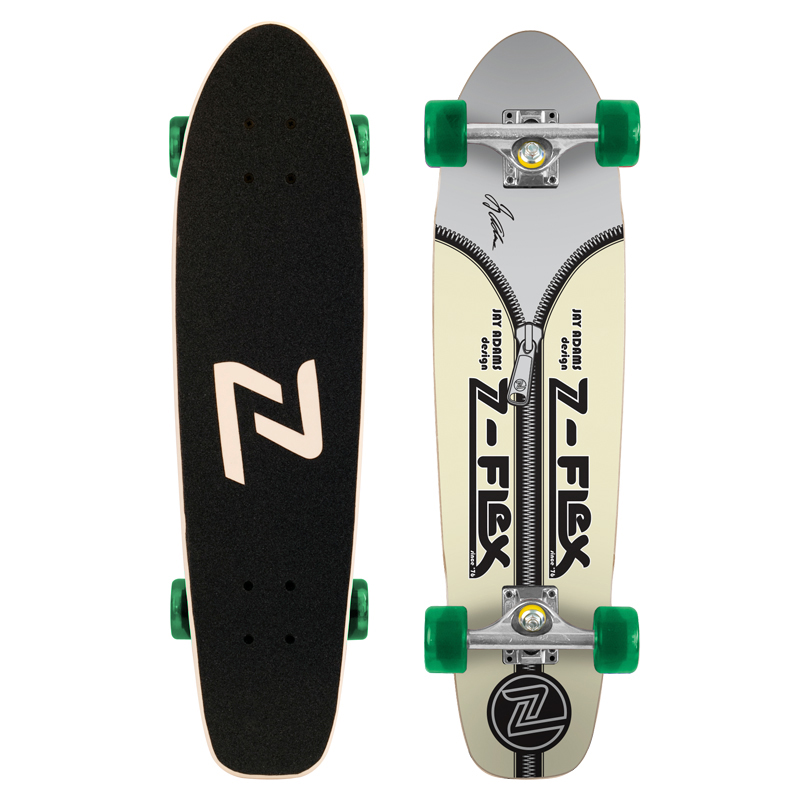 Z-Flex Skateboard Complete Jay Adams Glow In The Dark Zipperhead Zflex Cruiser Z Flex FREE POST