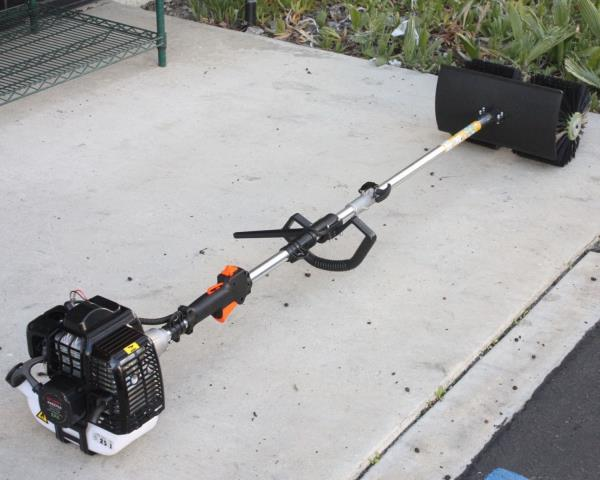 52cc Gas Power Hand Held Cleaning Sweeper Broom Driveway