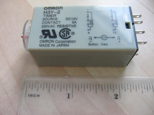 Details zu Omron Delay-On Timer Time Relay 2~60sec 2-Pole 12VDC H3Y-2 on