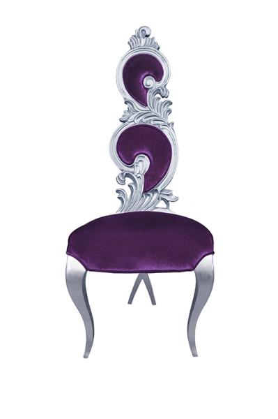 Fabulous Details About Modern Dining Room Chair Solid Wood Accent Chair Suzette Purple With Silver Machost Co Dining Chair Design Ideas Machostcouk