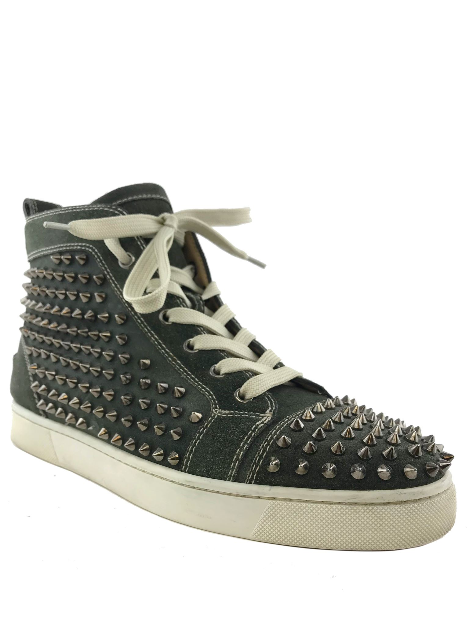 best loved c1815 ee0a4 Details about Christian Louboutin Men's Louis Spikes Sneakers Size 8